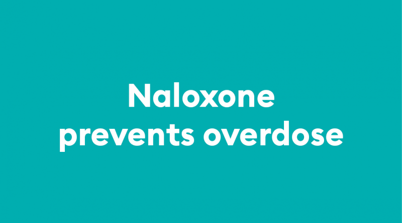 Nalaxone kits help prevent overdose and death